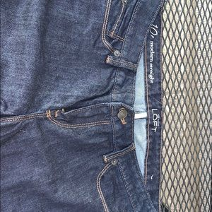 Modern straight Ann Taylor loft jeans 10P